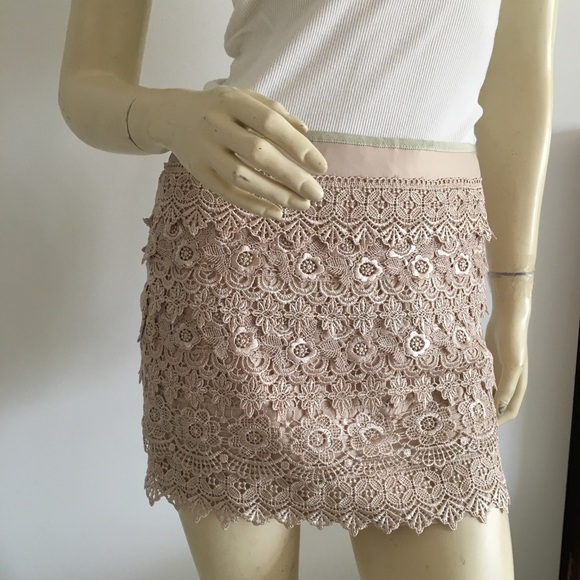 81517ea24356 Sans Souci Skirts | Host Pick Crochet Tiered Mini Skirt | Poshmark